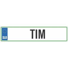 Registrska tablica - TIM, 47x11cm