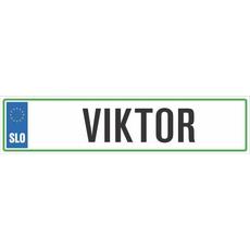Registrska tablica - VIKTOR, 47x11cm