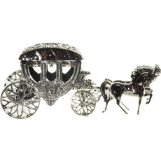 Kočija, prostor za denar ali poročna prstana, 15.5x5cm