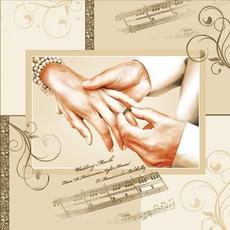 Papirnate serviete, poročne, roke, 33x33cm, 20kos.