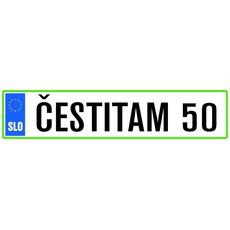 Registrska Tablica Čestitam 50 Let Rojstni Dan Abraham