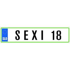Registrska tablica - Sexi 18