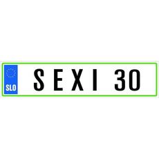 Registrska Tablica Sexi 30 Let