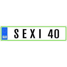 Registrska Tablica Sexi 40 Let