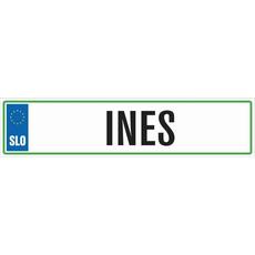 Registrska tablica - INES, 47x11cm