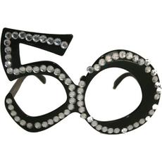Dekoracija Očala Kamenčki 50 Let Črna