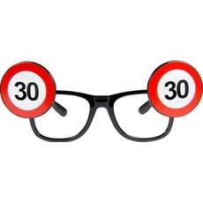 Dekoracija Očala Prometni Znak 30