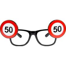 Dekoracija Očala Prometni Znak 50