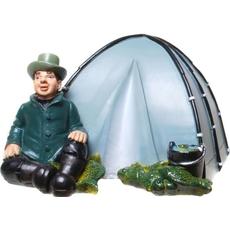 Hranilnik ribič s šotorom iz polymase, 8.5x13cm