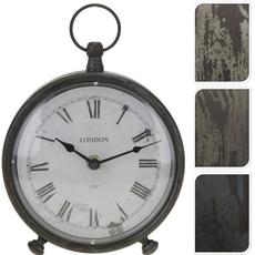 Namizna ura, kovinska, 16.5x20cm, sort.