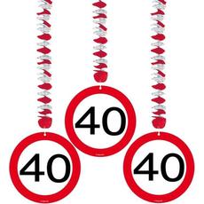Spirala iz papirja - prometni znak 40, 3/1