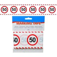 Trak iz pvc za označevanje - prometni znak 50, 15m
