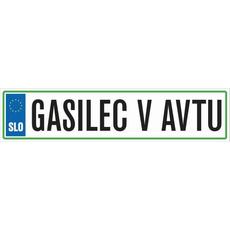 Registrska tablica - Gasilec v avtu, 47x11cm
