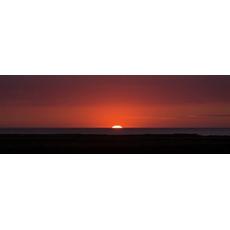 Darilo Slika Rdeči Sončni Vzhod Platno Osvetlitev Z Led Diodami