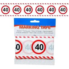 Trak iz pvc za označevanje - prometni znak 40, 15m