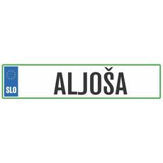 Registrska tablica - ALJOŠA, 47x11cm