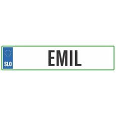 Registrska tablica - EMIL, 47x11cm