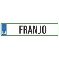 Registrska tablica - FRANJO, 47x11cm