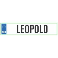 Registrska tablica - LEOPOLD, 47x11cm