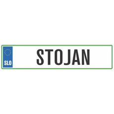 Registrska tablica - STOJAN, 47x11cm