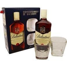Whisky Ballantines 0.7L + 2 kozarca 2dcl v darilni embalaži