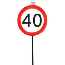 Darilo Prometni Znaki 40 Na Palici