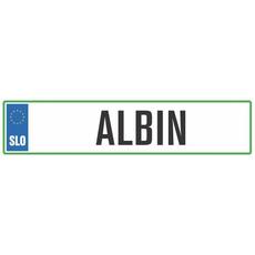 Registrska tablica - ALBIN, 47x11cm