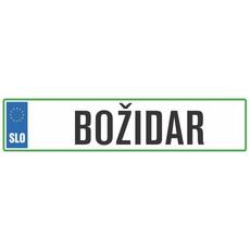 Registrska tablica - BOŽIDAR, 47x11cm