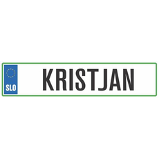 Registrska tablica - KRISTJAN, 47x11cm
