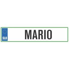 Registrska tablica - MARIO, 47x11cm