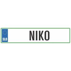Registrska tablica - NIKO, 47x11cm