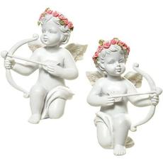 Angel z vencem iz vrtnic s amorjevo puščico, 8cm