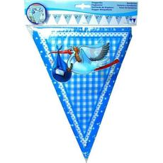 Girlanda zastavice, modra, 10 m