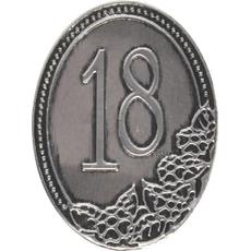 Kovinska Ploščica 18 Let Nalepka