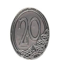 Kovinska Ploščica 20 Let Nalepka