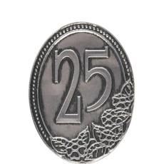 Kovinska Ploščica 25 Let Nalepka