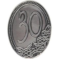 Kovinska ploščica 30 let 4,5x6,2cm