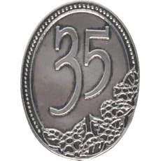 Kovinska Ploščica 35 Let Nalepka