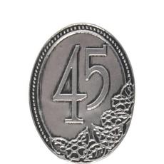 Kovinska Ploščica 45 Let Nalepka
