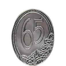 Kovinska Ploščica 65 Let Nalepka