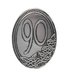 Kovinska Ploščica 90 Let Nalepka