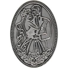 Kovinska ploščica Poročni par 5,1x7,2cm