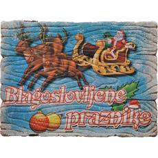 Magnet iz keramike, blagoslovljene praznike, 7.5x5.5 cm