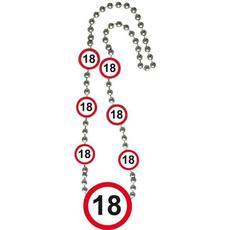 Ogrlica Iz Umetne Mase Prometni Znak 18 Let