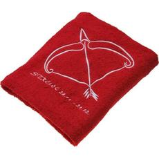 Brisača horoskop Strelec, motiv 2, rdeča 100% bombaž