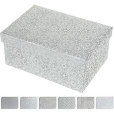 Darilna škatla srebrna, 18x12x8 cm