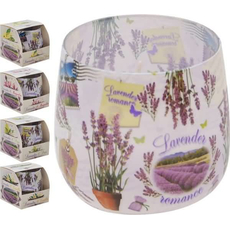 Sveča dišeča v steklu, lavender romance, 4. različni vonji s sivko, 245x33Ox80mm