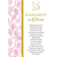 Voščilo, čestitka ob sveti birmi, za punce, gospod naj bo pred teboj