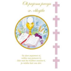 Voščilo, čestitka ob svetem obhajilu, za punce, ta dan zapomni si