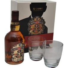 Whisky Chivas Regal 12, 0.7l v embalaži + 2 kozarca